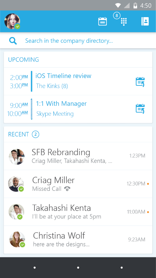 Announcing the preview of Skype for Business apps for iOS and Android 1