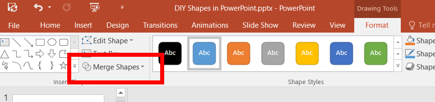 Make your own custom shapes in PowerPoint C