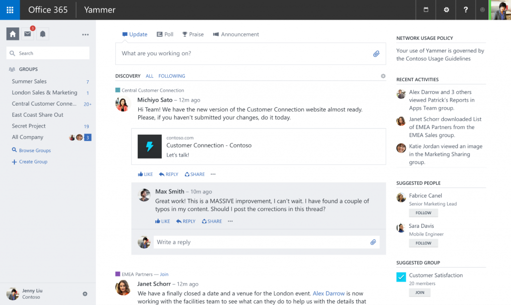 Optimizing Yammer for teams 1
