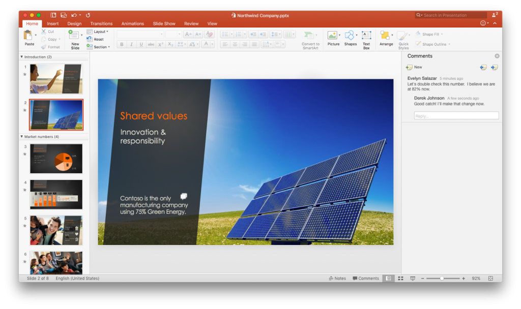 What is new in PowerPoint 2016 for Mac 4