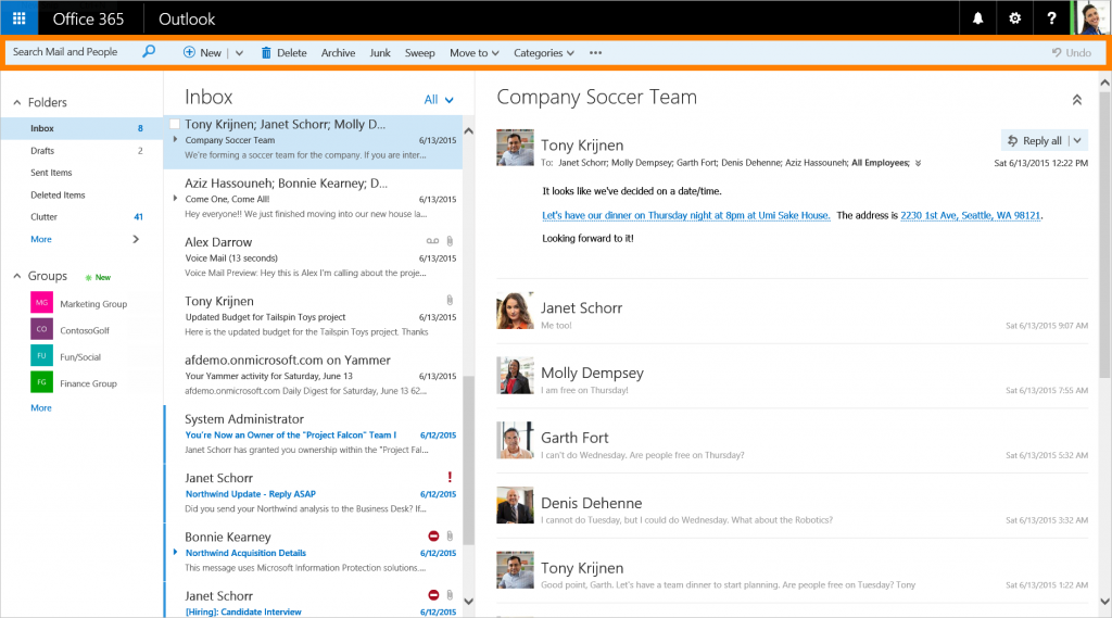 cropped and highlighted-New features coming to Outlook on the web 1