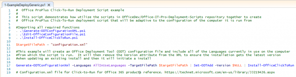 Deployment scripts for Office 2016 3