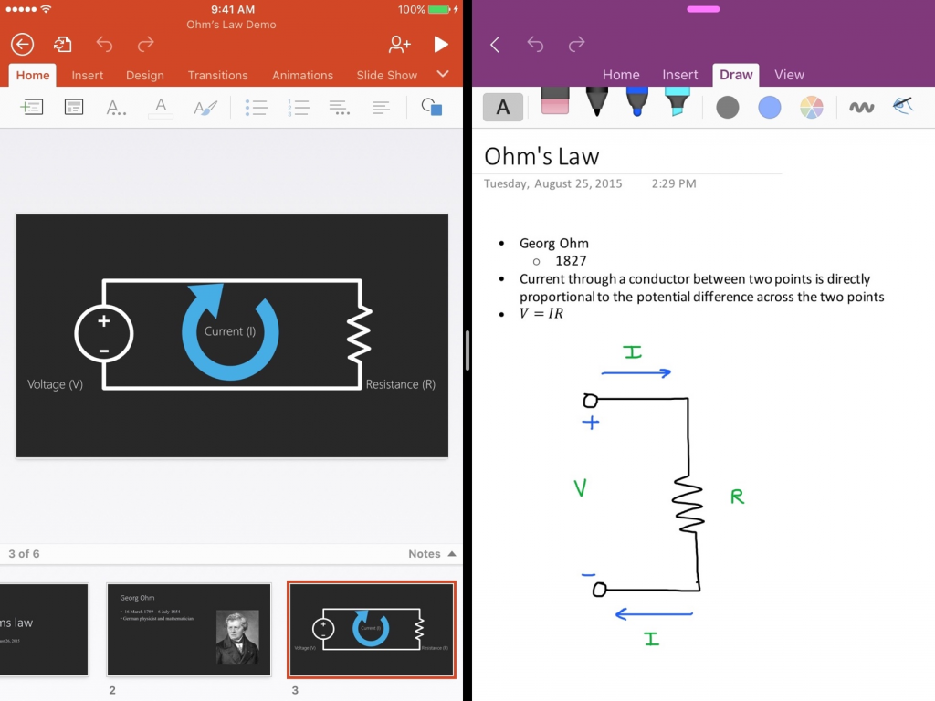 OneNote adds support for iOS 9 1