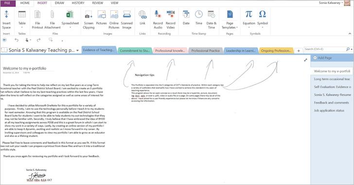 Bringing the teaching portfolio to the 21st century with OneNote 2 - border