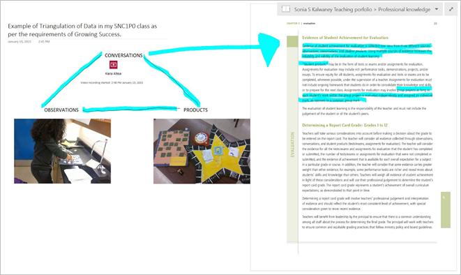 Bringing the teaching portfolio to the 21st century with OneNote 3 - border