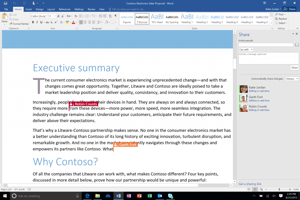 word co authoring 3