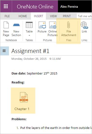 OneNote in November 2