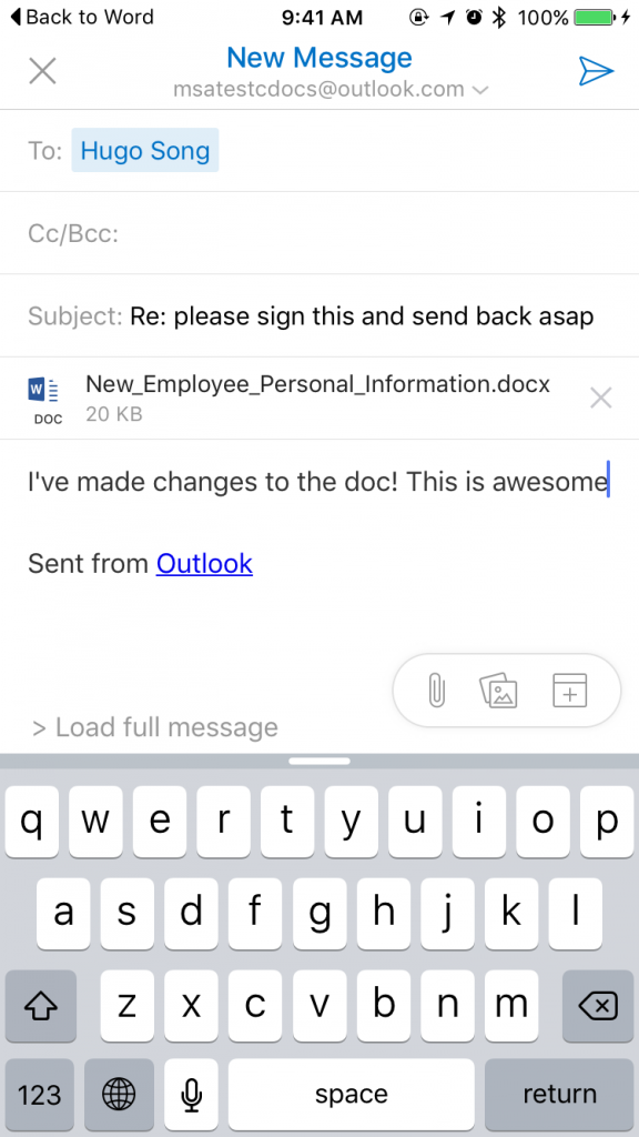 Office for iOS 10