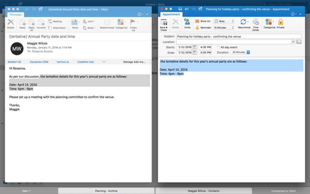 Full Screen view feature in Outlook for Mac 5