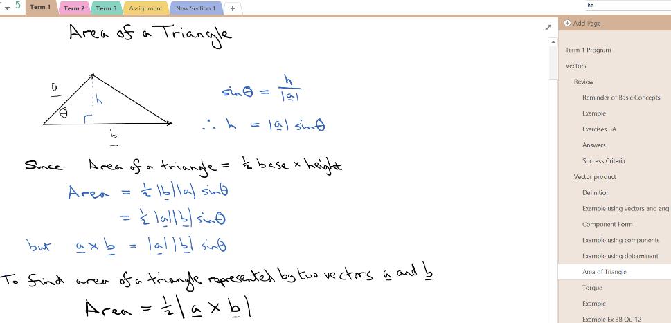 Lighten the mathematics load with OneNote Class Notebooks 3