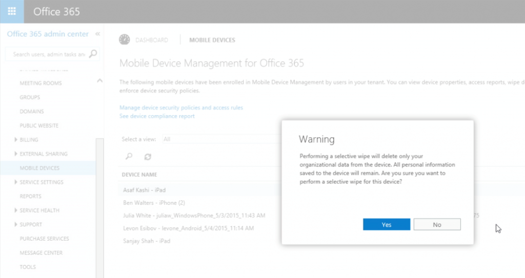 What protection exists for your data in Office 365 3