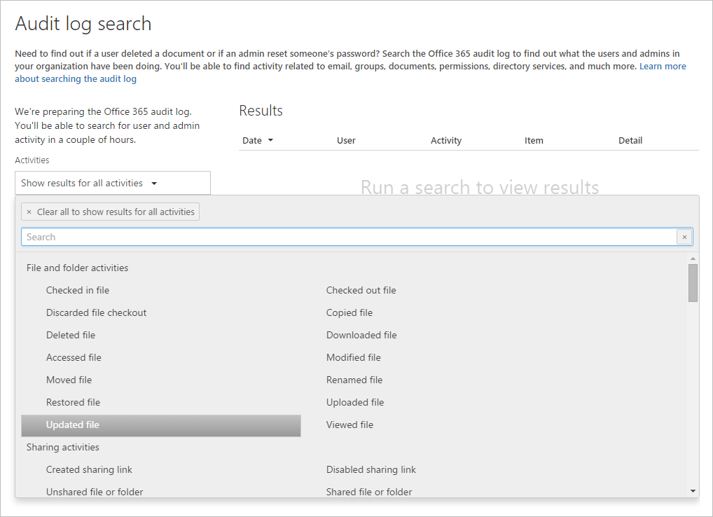 auditing reporting and storage improvements for sharepoint online