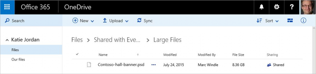 Improvements for SharePoint Online and OneDrive for Business 3b