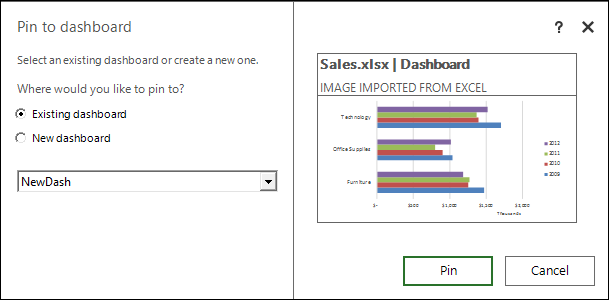 Share your Excel insights with Power BI 2