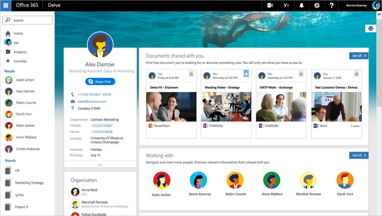Updated people profile experience coming soon to Office 365