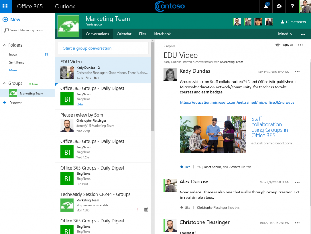 Updates to Office 365 Groups 1