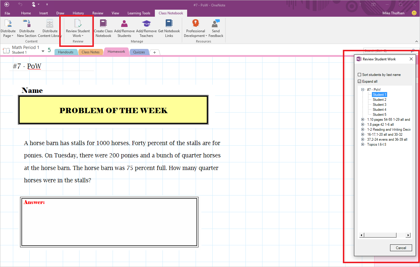 Introducing the Class Notebook add-in for OneNote 4b