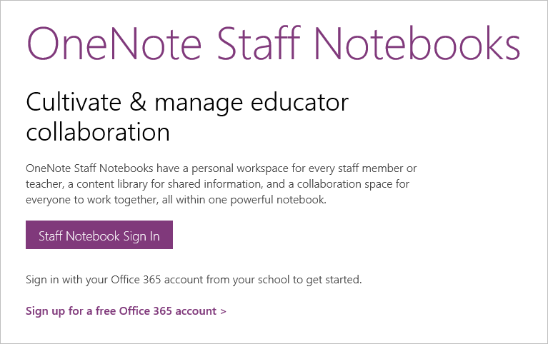 Invite your colleagues to a OneNote Staff Notebook and get them free Office 365 1
