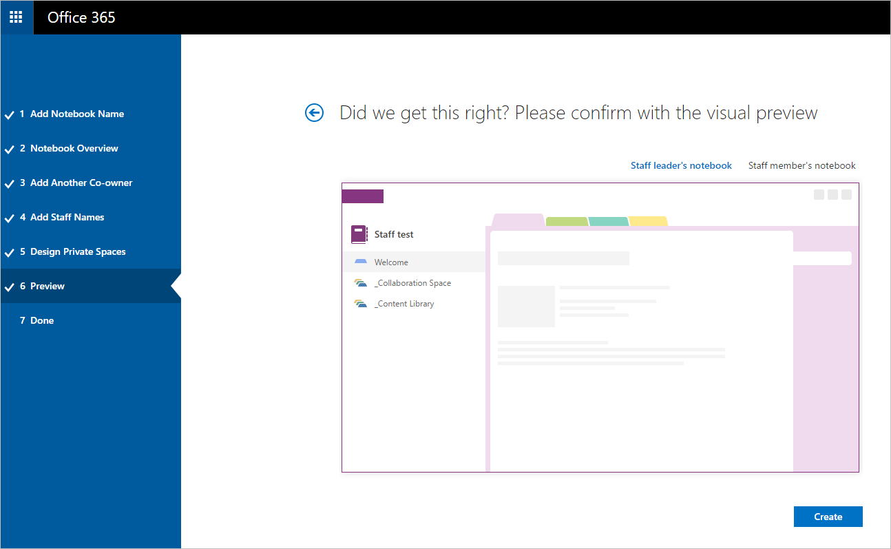 Invite your colleagues to a OneNote Staff Notebook and get them free Office 365 6