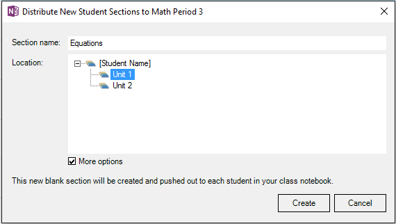 New updates for the OneNote Class Notebook add-in 9