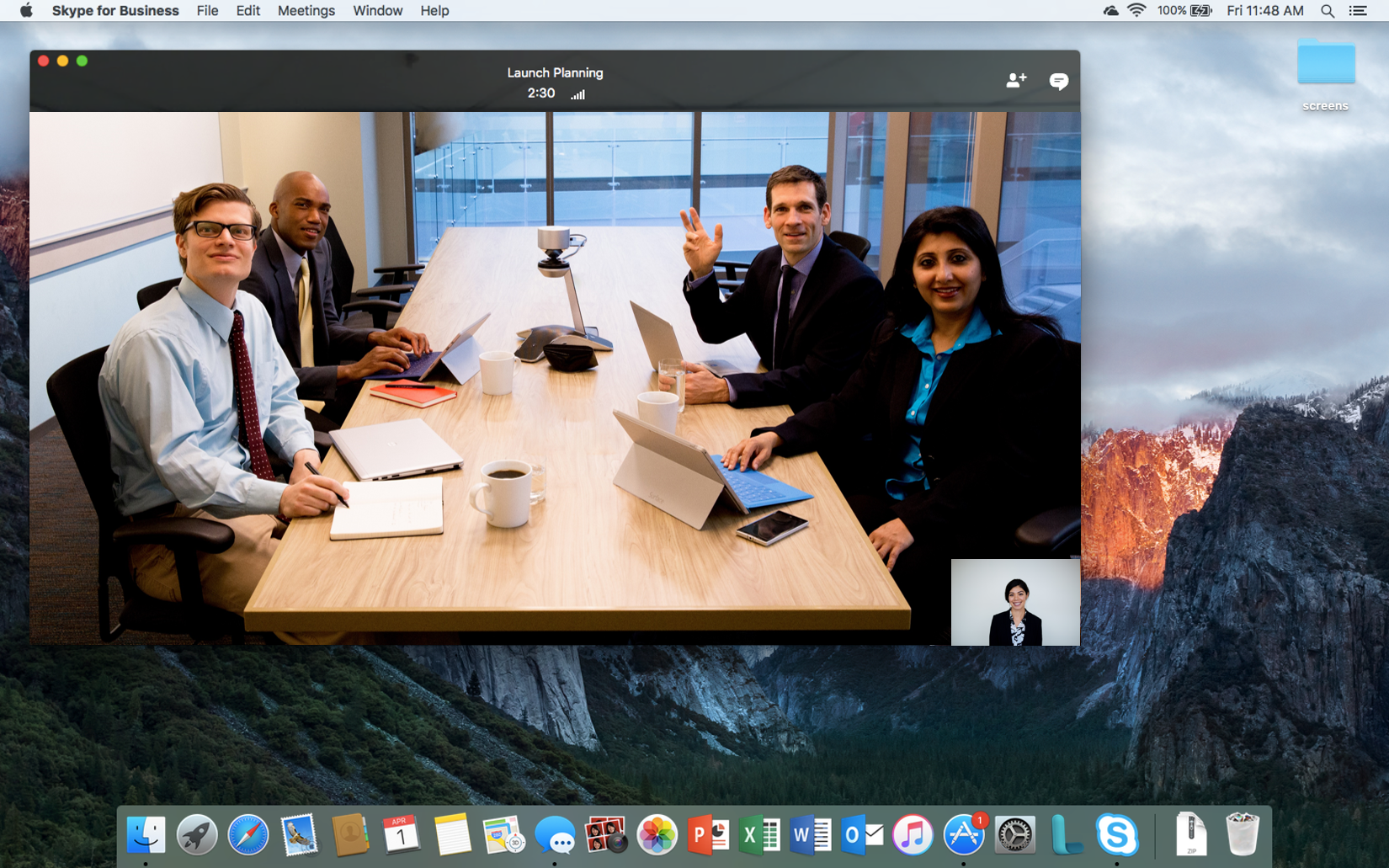 First step to the all new Skype for Business for Mac