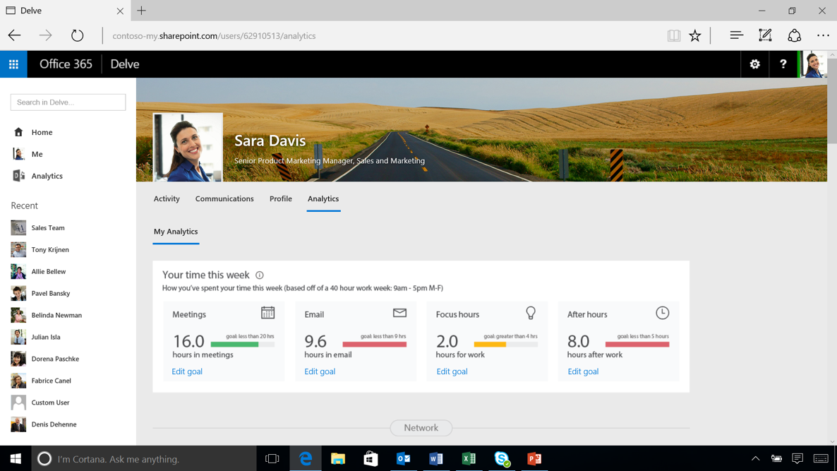 Take back your time with Delve Analytics 1