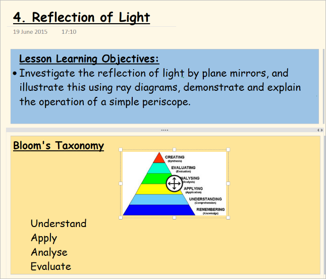 Assessment for learning using OneNote Class Notebooks 7