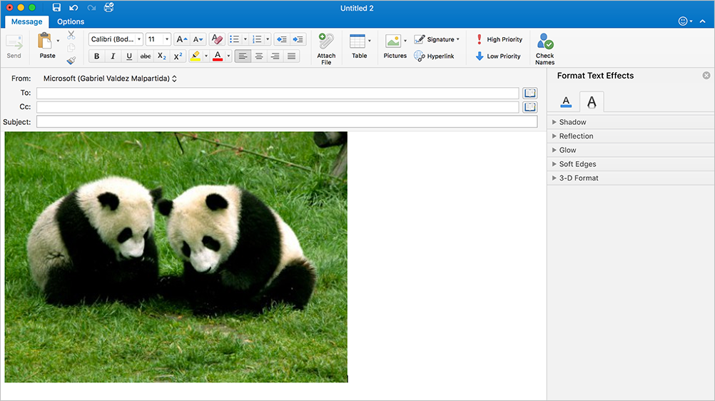 New editor coming to Outlook 2016 for Mac 2b