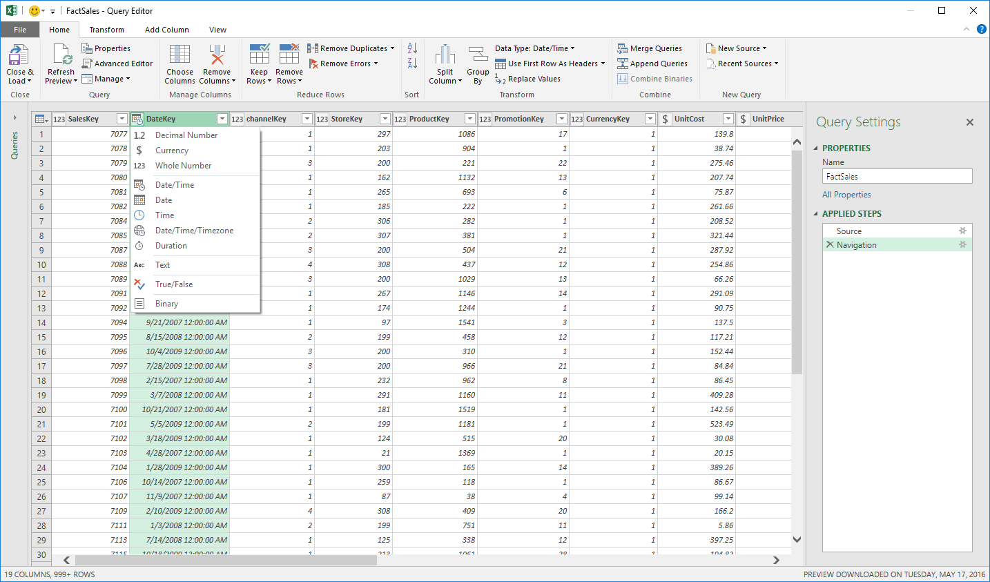 June 2016 updates for Get & Transform in Excel 2016 and the