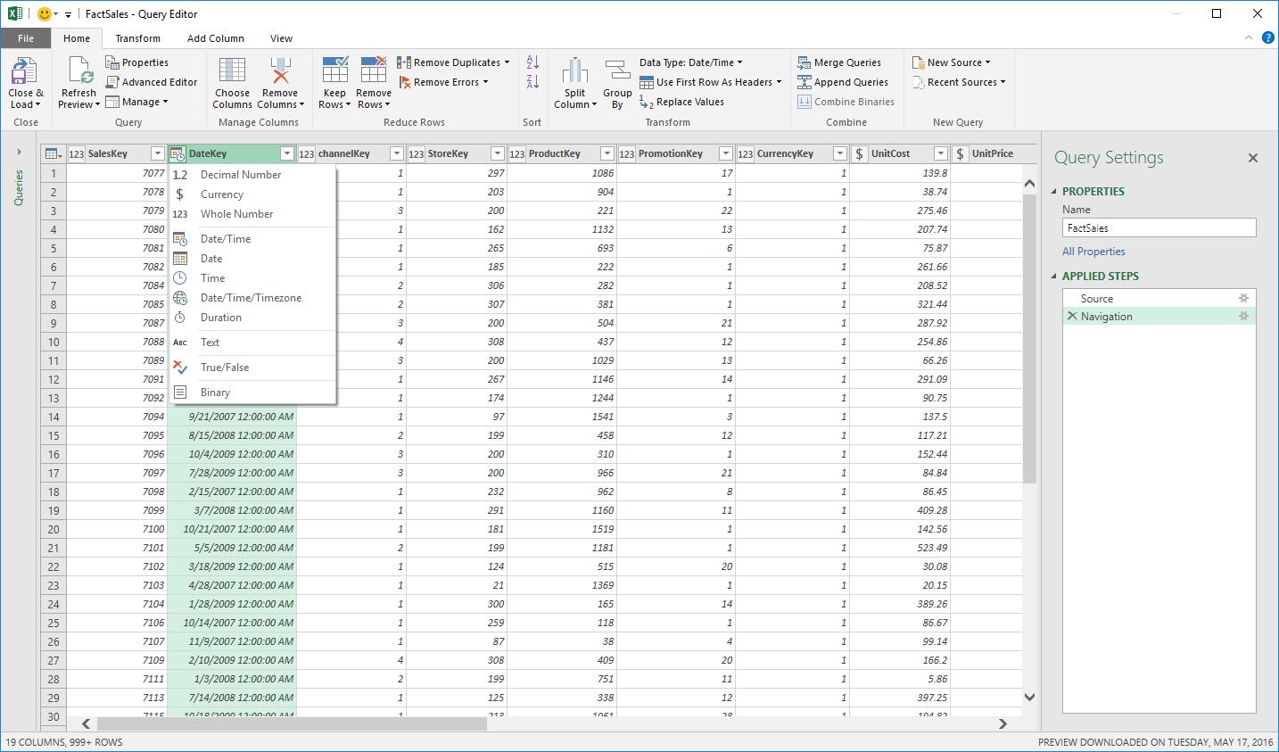 June 2016 updates for Get Transform in Excel 2016 2