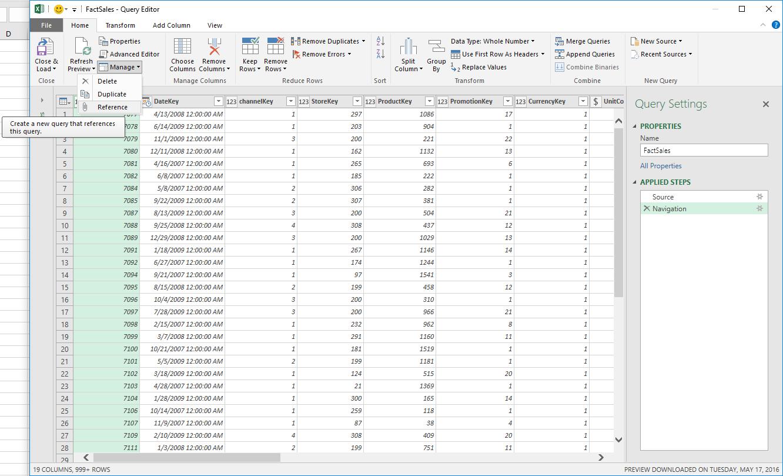 June 2016 updates for Get Transform in Excel 2016 4