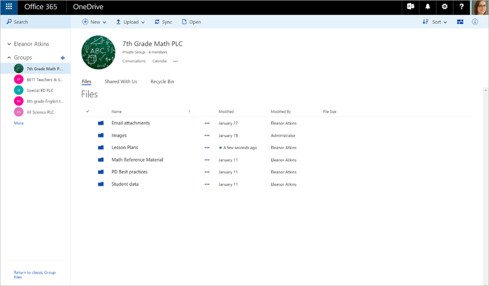 Professional Learning Community Groups in Office 365 Education 4