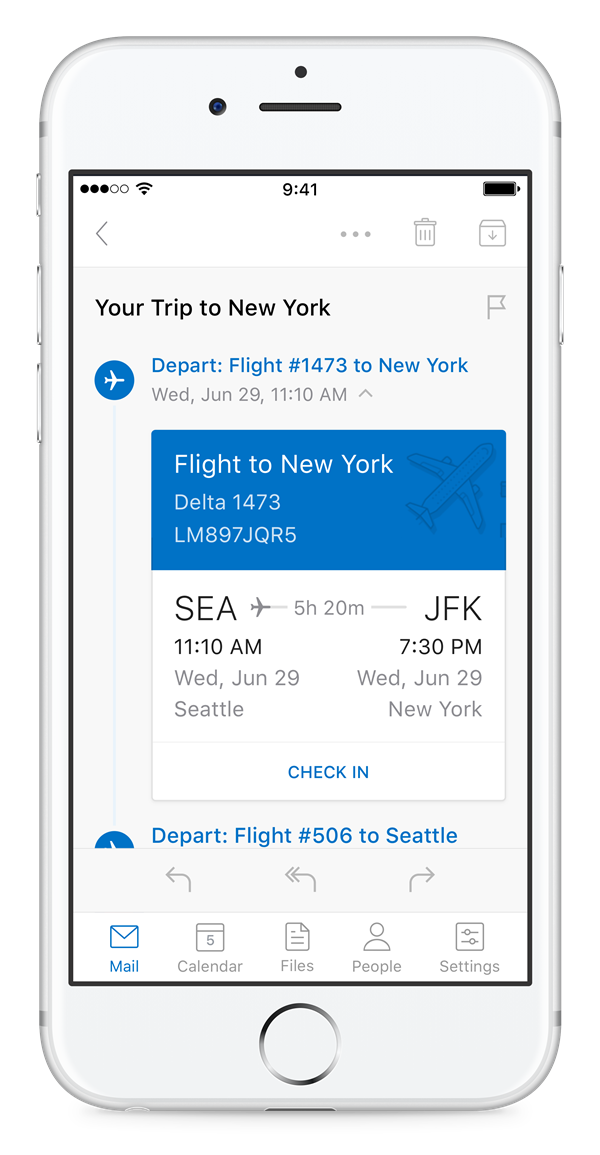 Stay on top of your travel and deliveries with Outlook