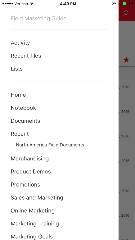 Your intranet in your pocket—the SharePoint mobile app for iOS is