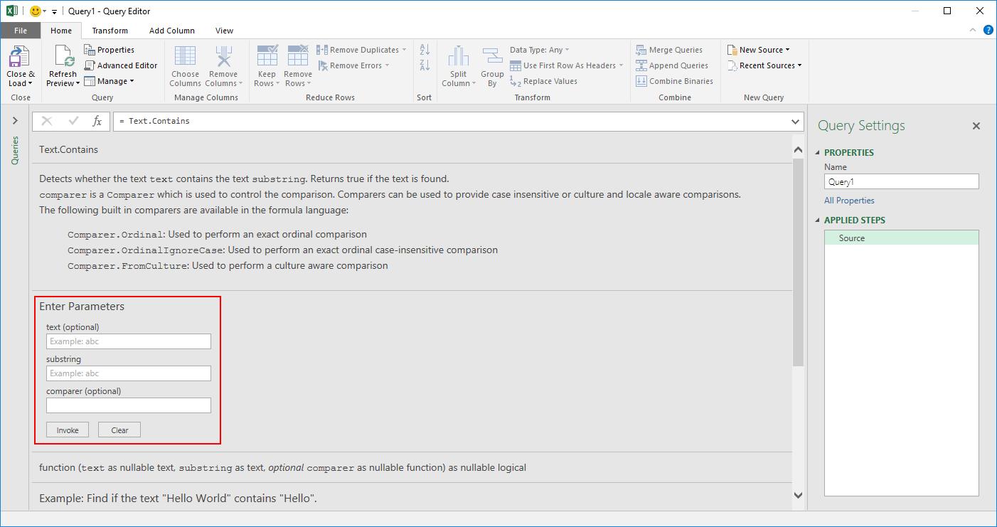 July 2016 updates for Get Transform in Excel 2016 9