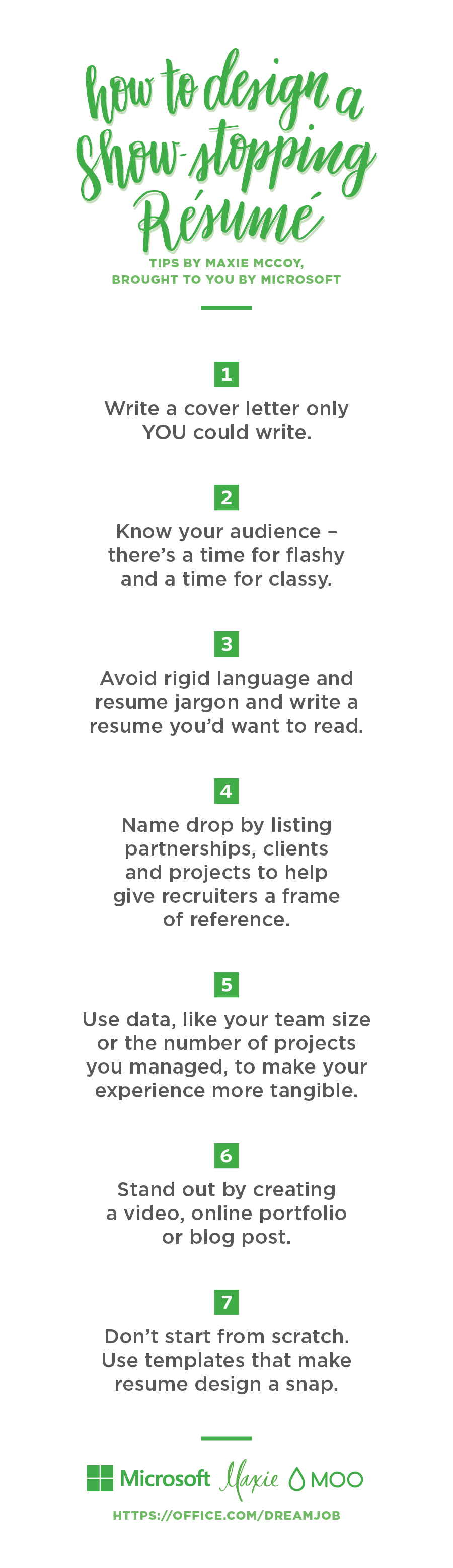 how to design a show stopping resume microsoft 365 blog