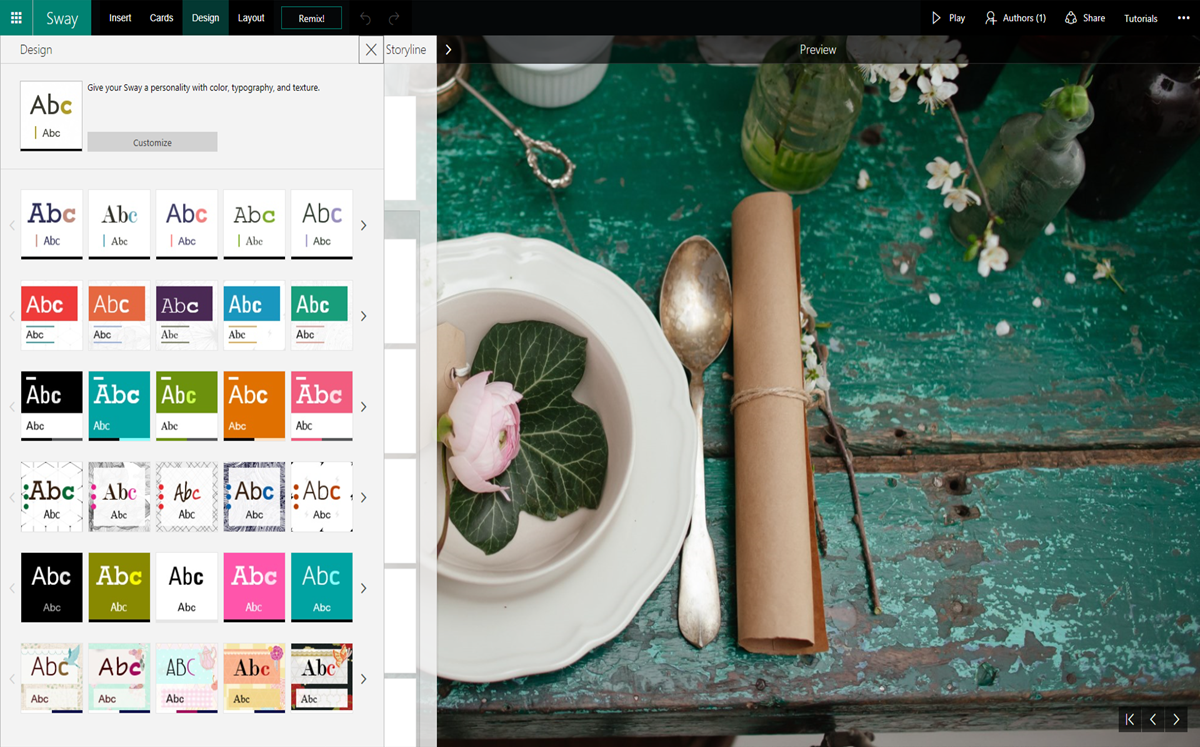 Sway design tips and new templates  Microsoft 365 Blog