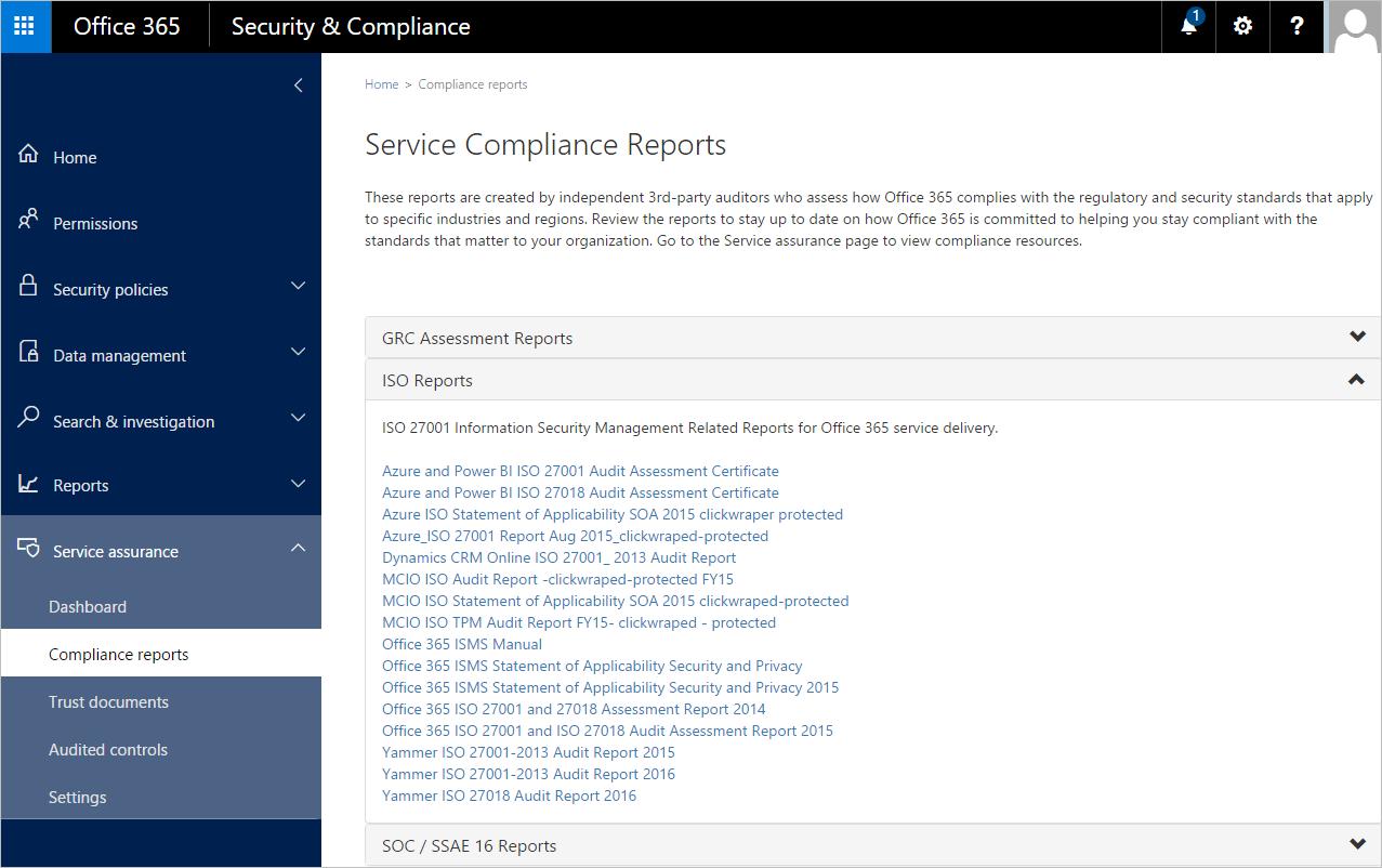 Office 365 Service Assurance 3