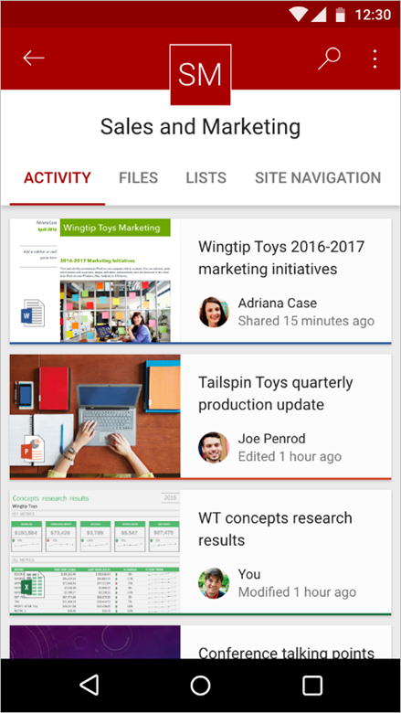 Enriching the mobile and intelligent intranet 5