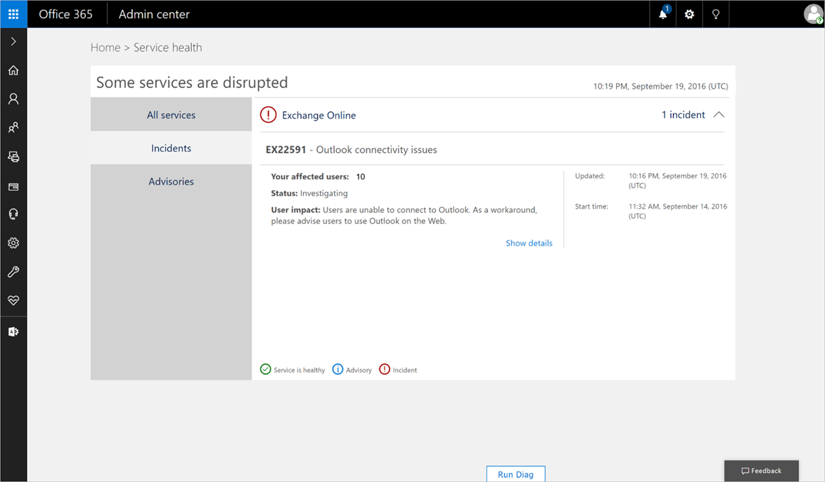 Office 365 administration announcements new admin center reaches general availability and - Company administrator office 365 ...