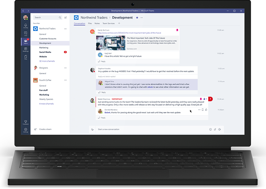 Introducing Microsoft Teams—the chat-based workspace in Office 365