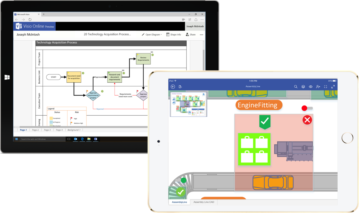 visio is coming to the web and ios