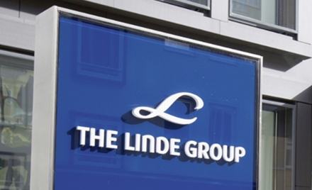 Signage for The Linde Group.