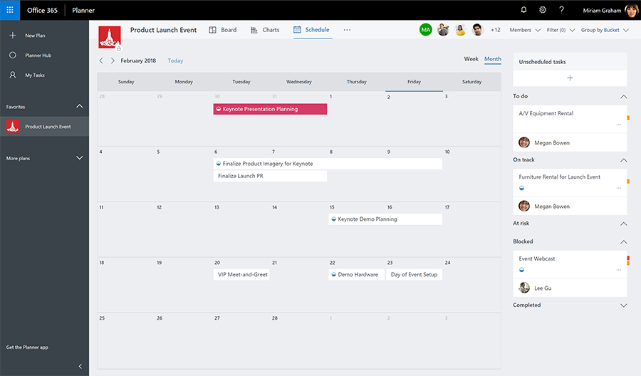 Microsoft Planner Schedule View PropelU Cloud Solutions