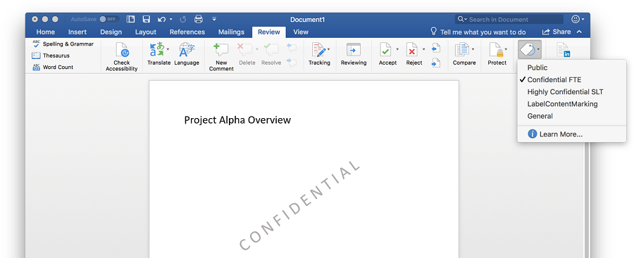 In a screenshot, a Confidential document is displayed in Word, including the document's watermark.