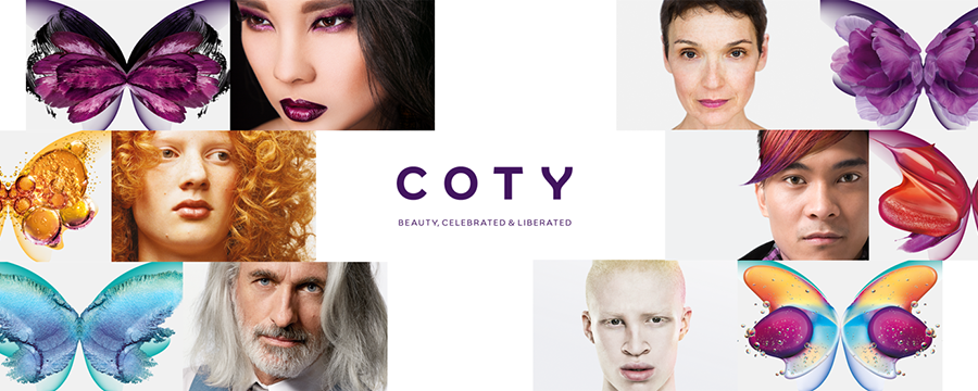 Image of the Coty logo surrounded by models.