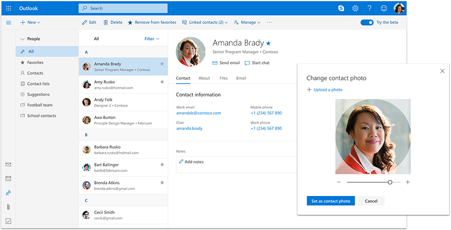 New Mail, Calendar, and People experiences coming to Outlook