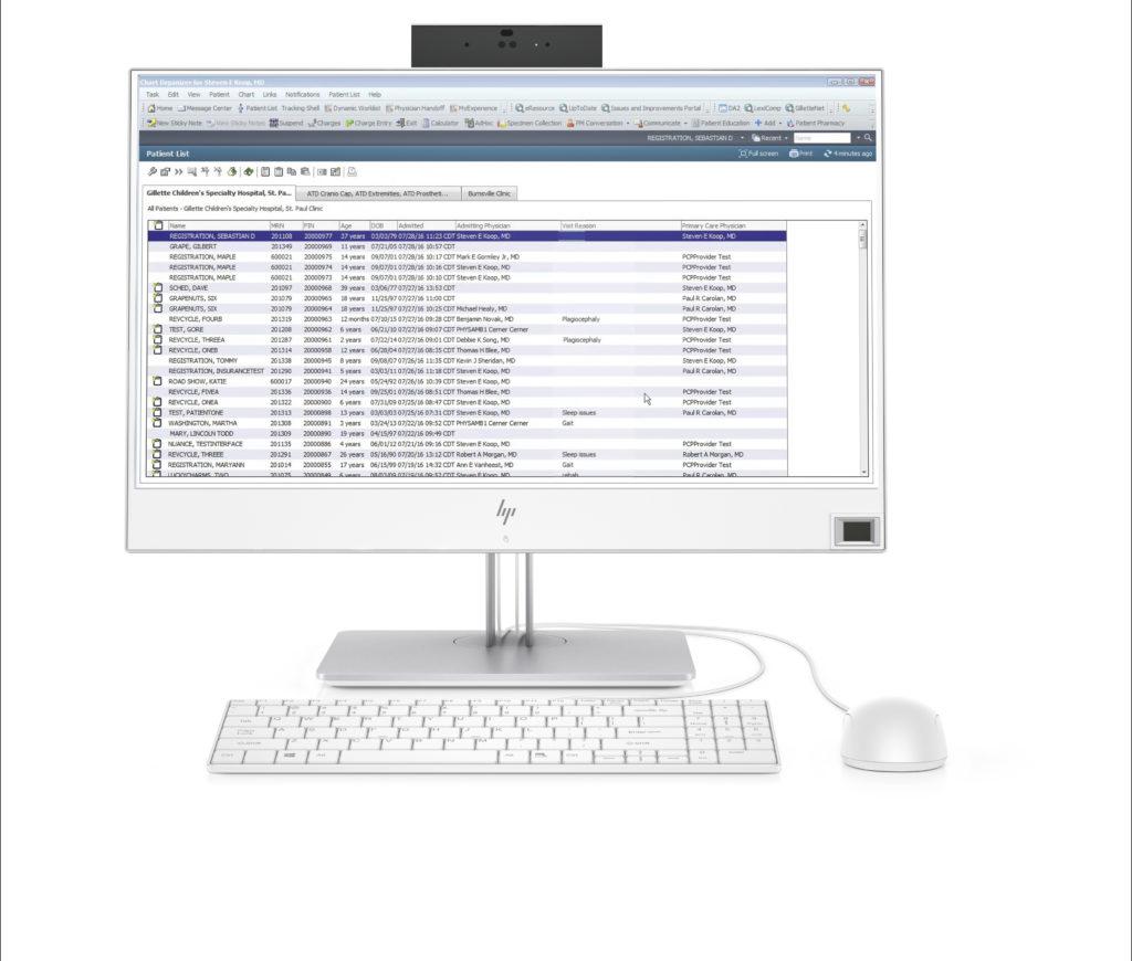 The HP EliteOne 800 G4 23.8 Healthcare Edition AiO