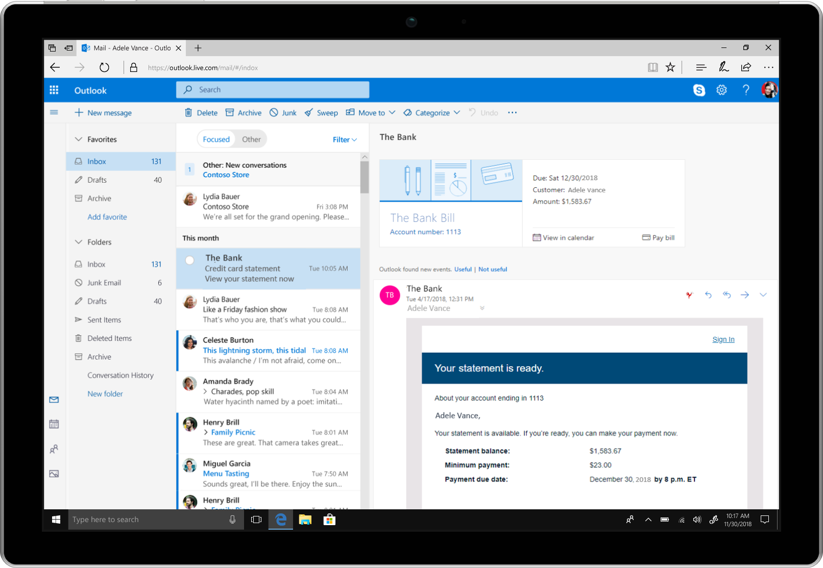 New Calendar, Mail, And Mobile Outlook Features
