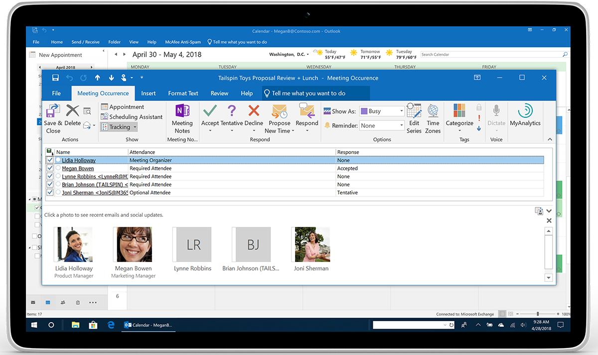 New Calendar, Mail, and mobile Outlook features help you get things